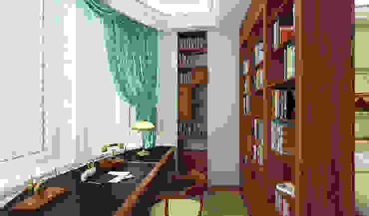 рабочий кабинет в спальне Спальня в классическом стиле от homify Классический