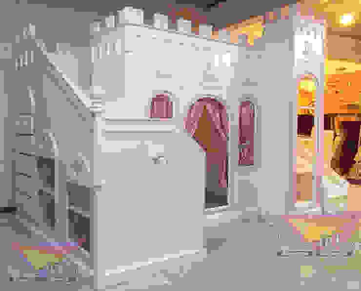 Imponente castillo Opulento de camas y literas infantiles kids world Clásico Derivados de madera Transparente