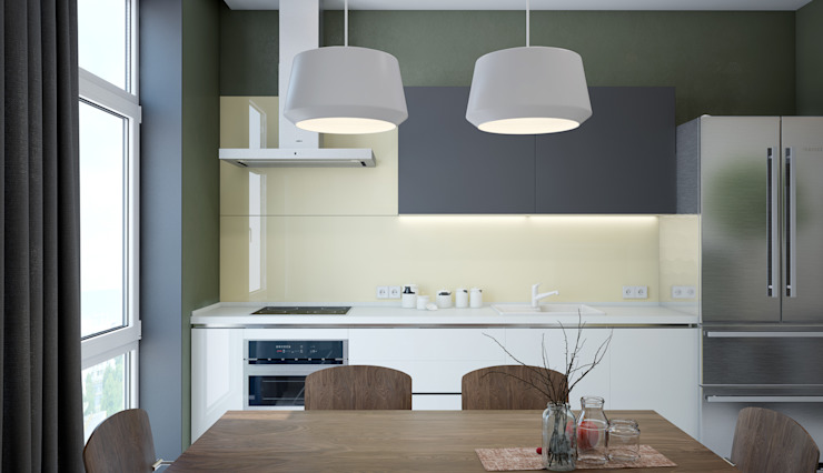 Квартира для большой семьи Кухня в стиле модерн от Pavel Alekseev Модерн