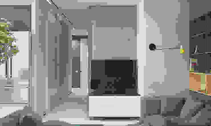 Квартира для большой семьи Гостиная в стиле модерн от Pavel Alekseev Модерн