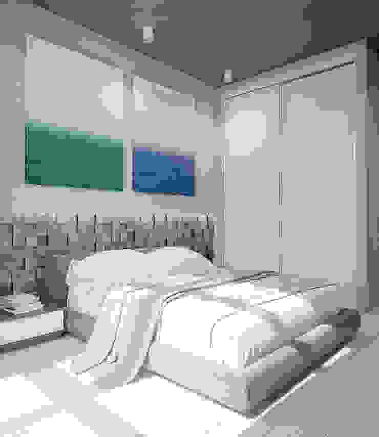 Квартира для большой семьи Спальня в стиле модерн от Pavel Alekseev Модерн