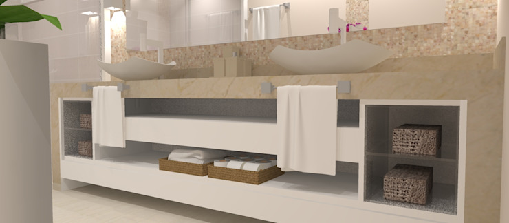 Modern Bathroom by Studio Meraki Arquitetura e Design Modern