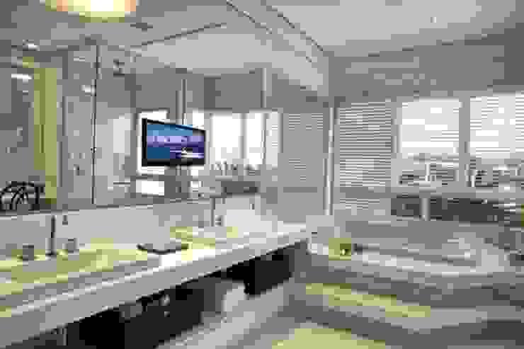 Bianka Mugnatto Design de Interiores Baños de estilo ecléctico Piedra Blanco
