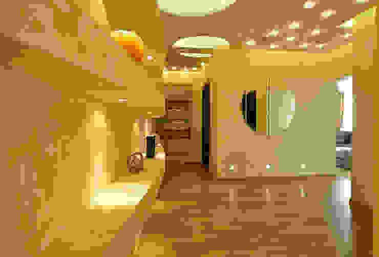 Mediterranean corridor, hallway & stairs by Дизайн-студия «ARTof3L» Mediterranean
