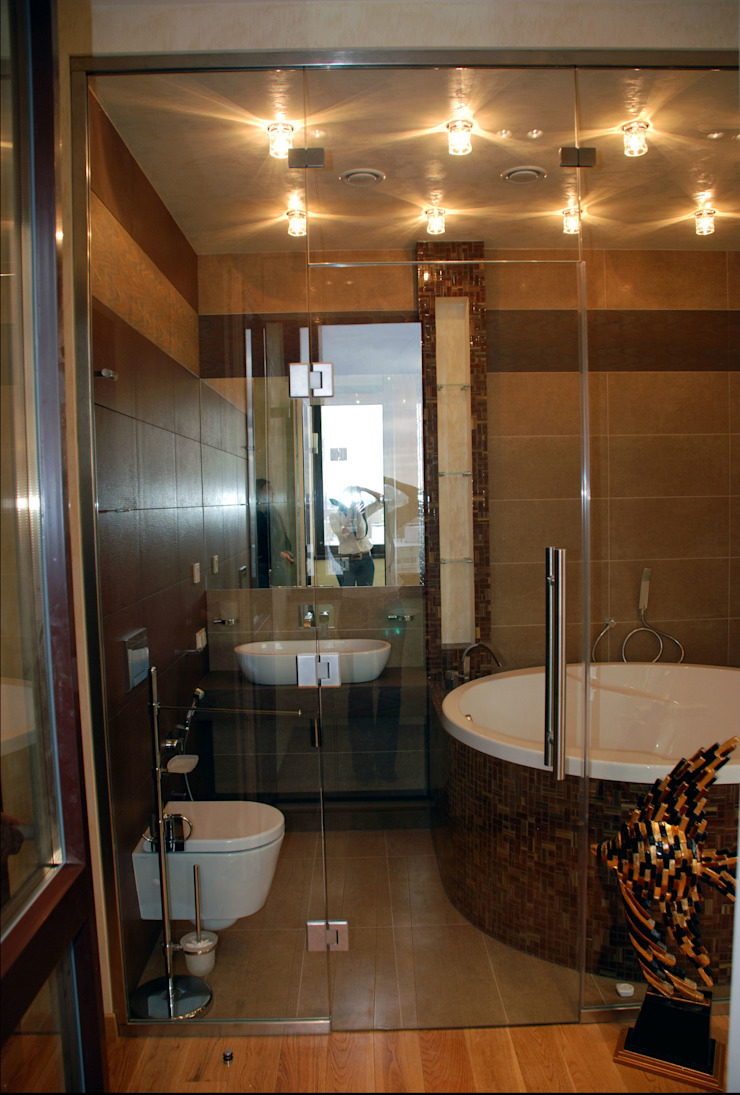 Mediterranean style bathrooms by Дизайн-студия «ARTof3L» Mediterranean