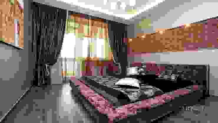 Квартира на Плющихе Спальня в стиле лофт от Дизайн-студия «ARTof3L» Лофт Кирпичи