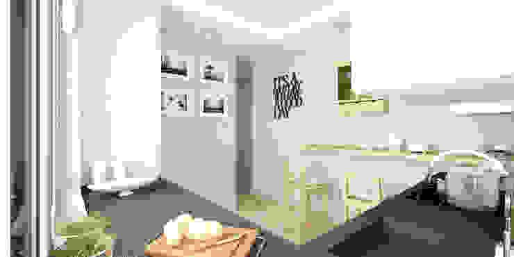 Кухня в стиле модерн от Pracownia Aranżacji Wnętrz 'O-Kreślarnia' Модерн