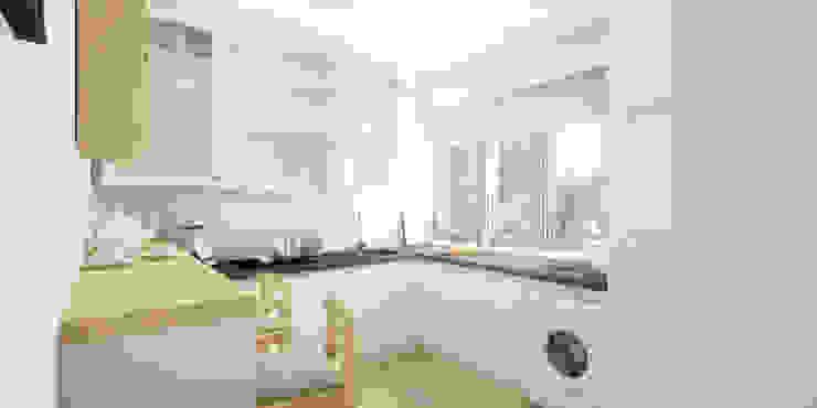 Modern kitchen by Pracownia Aranżacji Wnętrz 'O-Kreślarnia' Modern