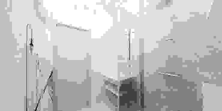 Jasne mieszkanie na poddaszu Nowoczesna łazienka od Pracownia Aranżacji Wnętrz 'O-Kreślarnia' Nowoczesny
