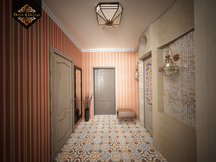 Colonial corridor, hallway & stairs by Decor&Design Colonial