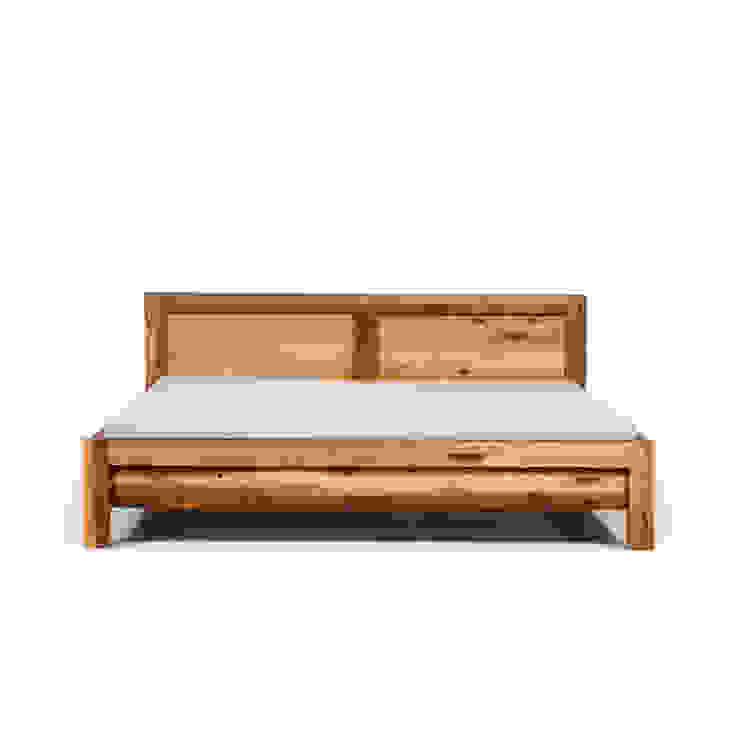 MAZZIVO bed BAUHAUS - solid alder wood od mazzivo konzept + gestaltung przemysław mitręga Klasyczny Drewno O efekcie drewna