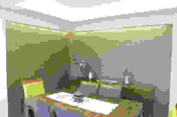 İzmir Mimkent'te Yeni Bir Yaşam Projesi Modern Yemek Odası ACS Mimarlık Modern