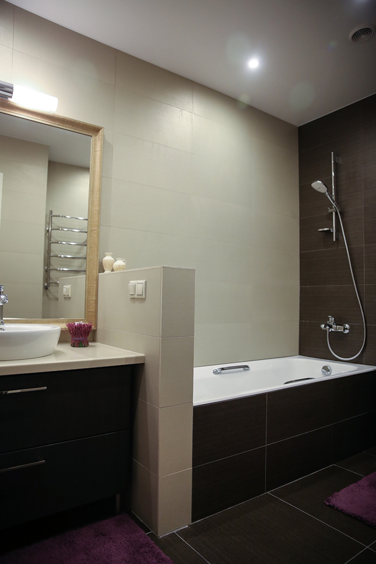 Таунхаус <q>Лесные поляны</q> Ванная комната в эклектичном стиле от Designer Olga Aysina Эклектичный