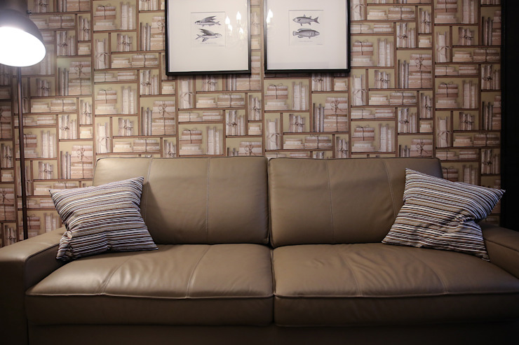 Таунхаус <q>Лесные поляны</q> Медиа комнаты в эклектичном стиле от Designer Olga Aysina Эклектичный
