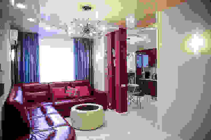 Salas de estar ecléticas por Designer Olga Aysina Eclético