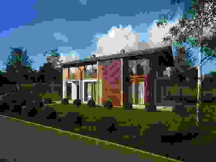 Casas modernas por Majchrzak Pracownia Projektowa Moderno