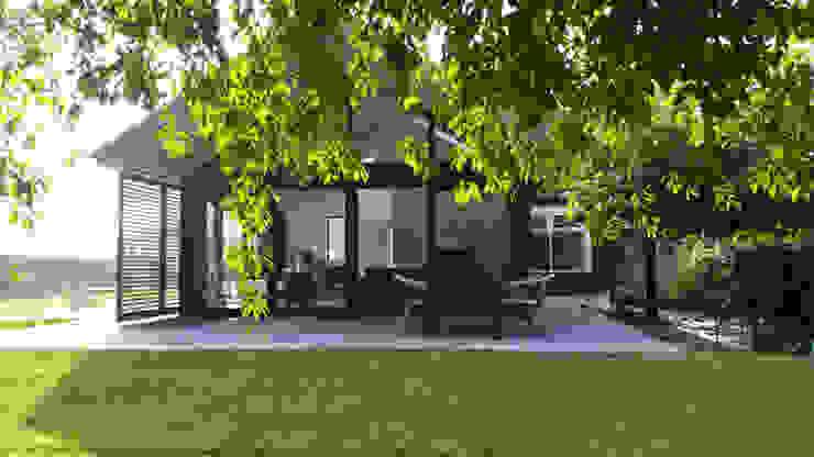 Tuingevel Moderne huizen van TS architecten BV Modern Aluminium / Zink