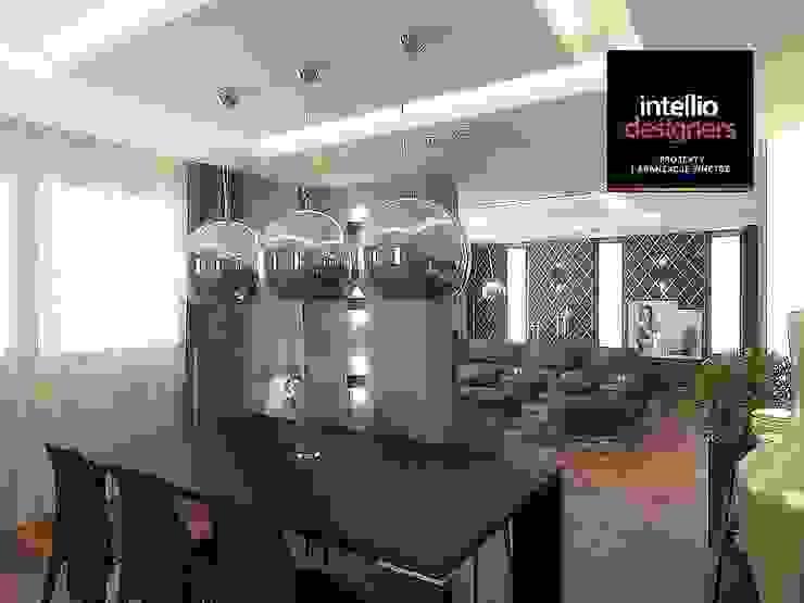 Salon i jadalnia aranżacja wnętrz od Intellio designers
