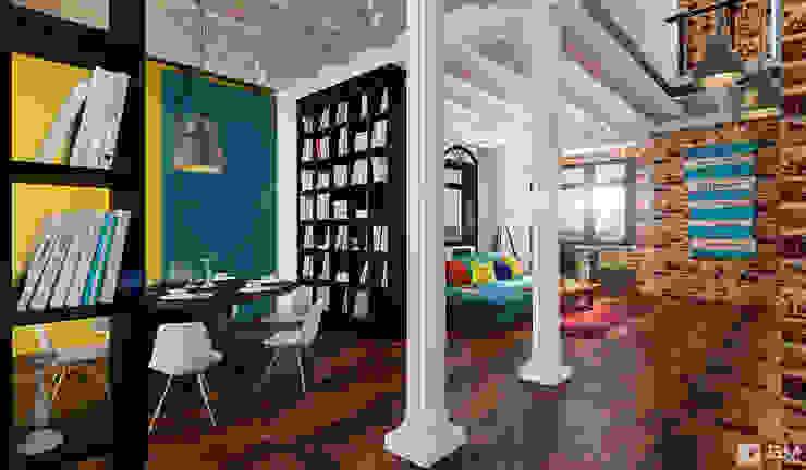 Эксклюзивный дизайн-проект дома в стиле эклектика Столовая комната в эклектичном стиле от GM-interior Эклектичный