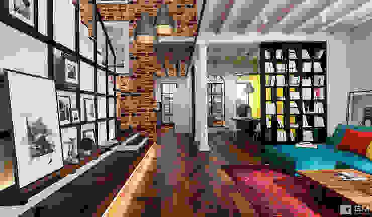 Эксклюзивный дизайн-проект дома в стиле эклектика Коридор, прихожая и лестница в эклектичном стиле от GM-interior Эклектичный
