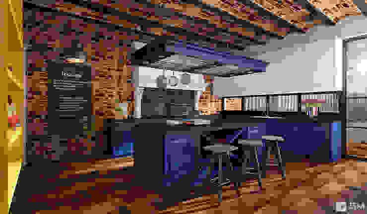 Эксклюзивный дизайн-проект дома в стиле эклектика Кухни в эклектичном стиле от GM-interior Эклектичный