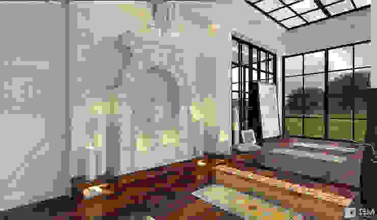 Эксклюзивный дизайн-проект дома в стиле эклектика Медиа комнаты в эклектичном стиле от GM-interior Эклектичный