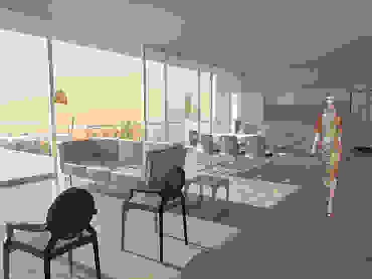 Casa CB125 Salones modernos de Velazco & Rodriguez Moderno
