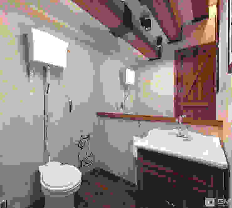 Эксклюзивный дизайн-проект дома в стиле эклектика Ванная комната в эклектичном стиле от GM-interior Эклектичный