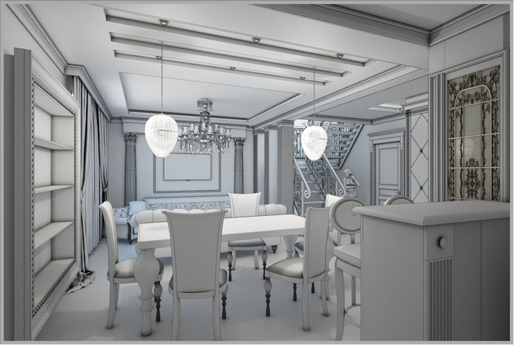 Classic style dining room by Евдокимов Classic