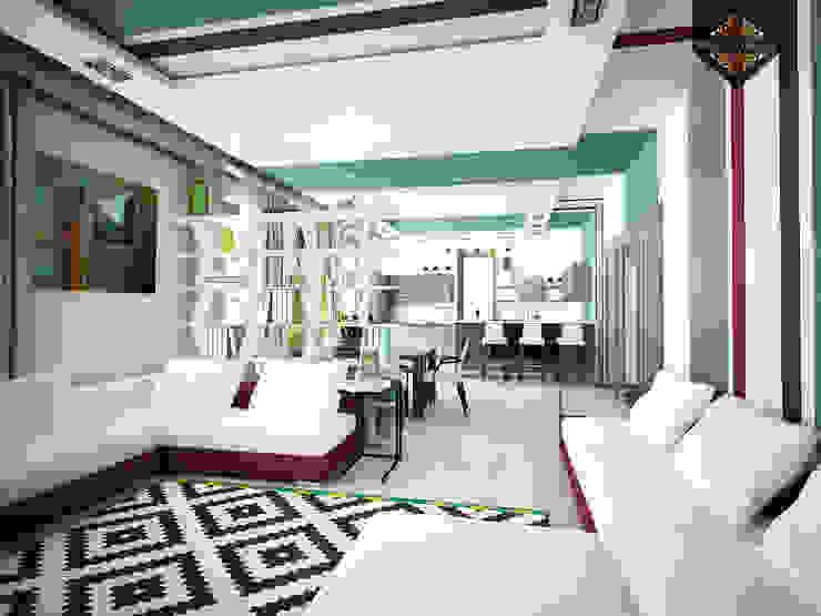 молодежный интерьер Гостиные в эклектичном стиле от Decor&Design Эклектичный