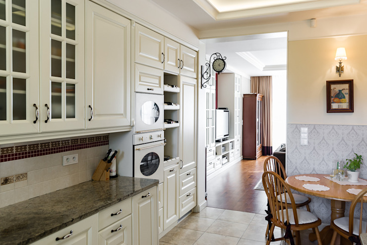 Cocinas de estilo clásico de Gzowska&Ossowska Pracownie Architektury Wnętrz Clásico