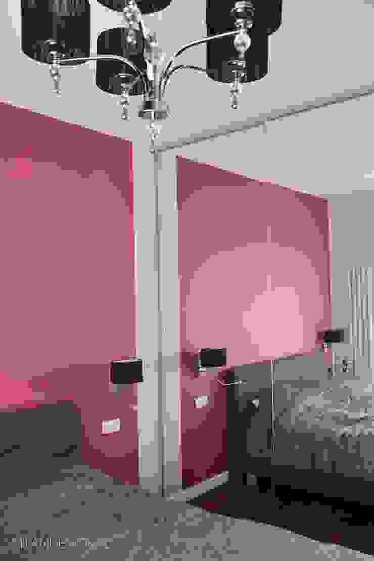 Gabinet oraz sypialnia w wersji dla niej Nowoczesna sypialnia od Milan design Nowoczesny