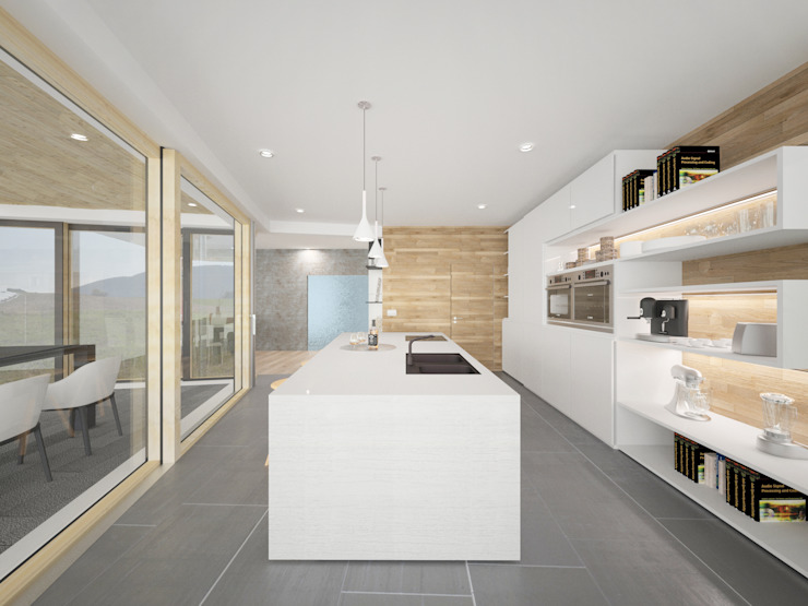 Kitchen by AL ARCHITEKT -  in Wien, Modern Wood Wood effect