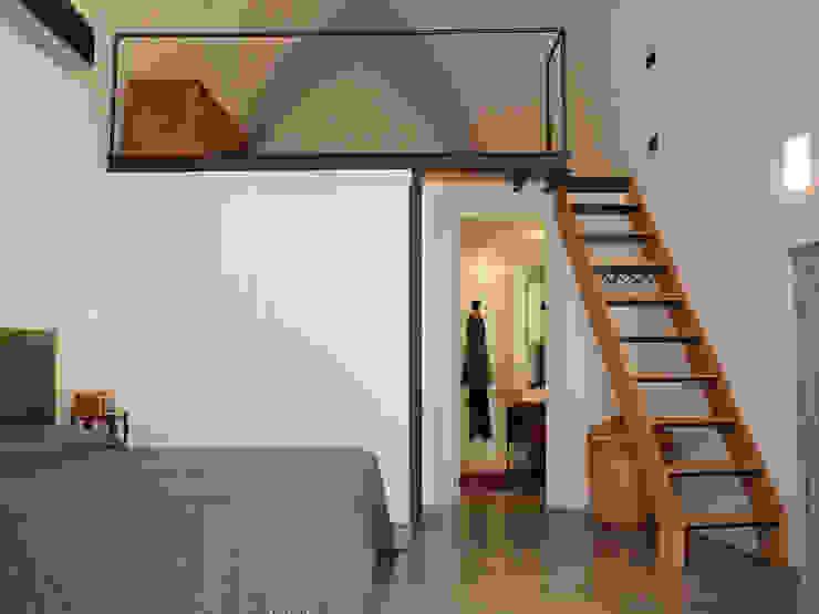 Casa Incorciata Camera da letto in stile mediterraneo di Ossigeno Architettura Mediterraneo