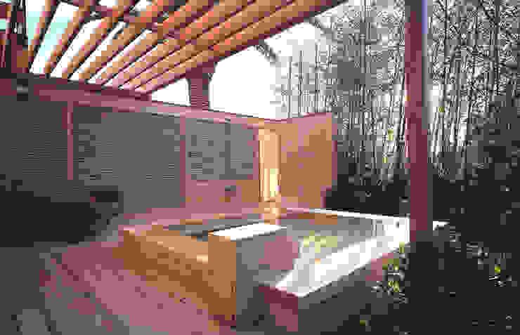 小林福村設計事務所/KOBAYASHIFUKUMURA ARCHITECTS Piscinas de estilo moderno