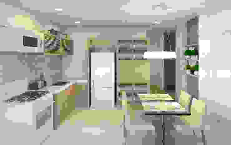 Interiores Cozinhas modernas por Patrícia Alvarenga Moderno Mármore