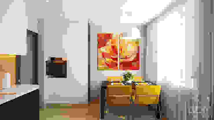 Nhà bếp phong cách tối giản bởi студия визуализации и дизайна интерьера '3dm2' Tối giản