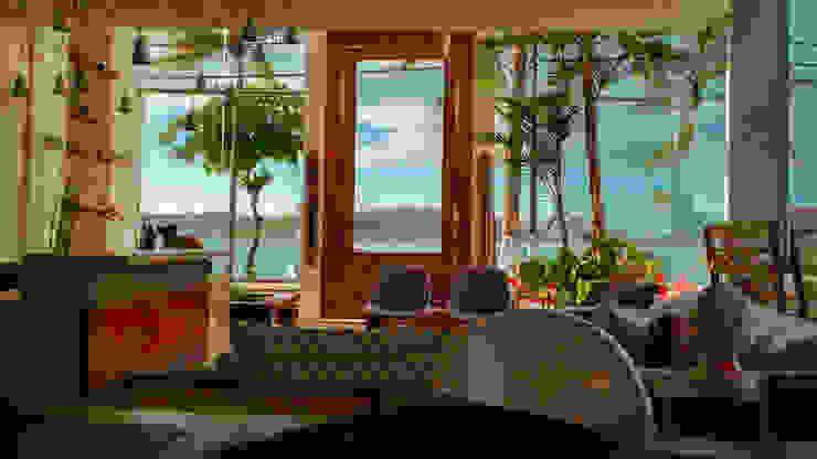 Vista da Baía do Pontal Edifícios comerciais tropicais por Simone Flores Arquitetos & Associados Tropical