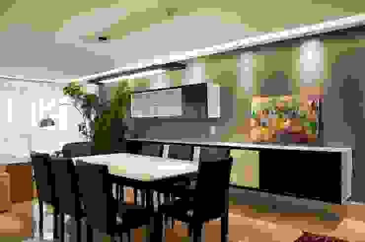 Jantar P&B Salas de jantar modernas por Leticia Sá Arquitetos Moderno