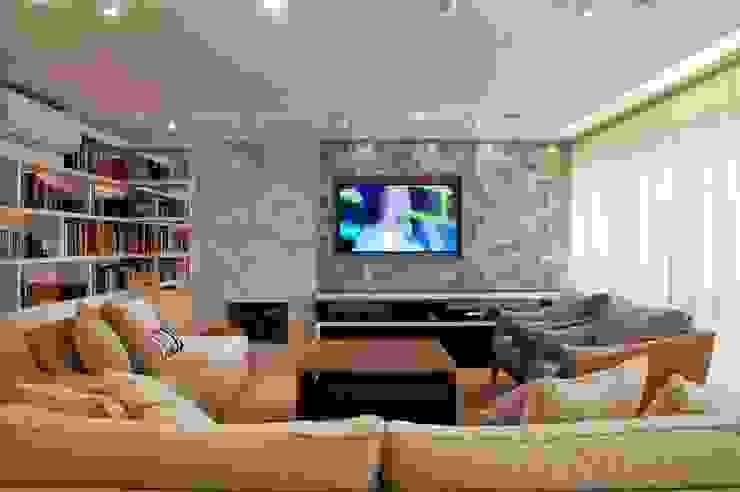 O melhor de dois mundos Salas de estar modernas por Leticia Sá Arquitetos Moderno