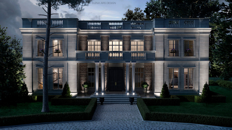 French house: Дома в . Автор – Elena Arsentyeva, Классический Известняк