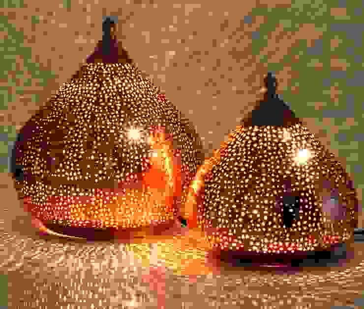 Orientalische Stehlampen in Tropfenform von Guru-Shop Ausgefallen Kupfer/Bronze/Messing