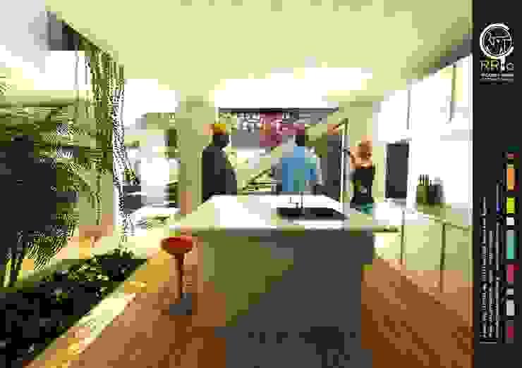 Cocina: Cocinas a medida  de estilo  por Rr+a  bureau de arquitectos - La Plata,Moderno