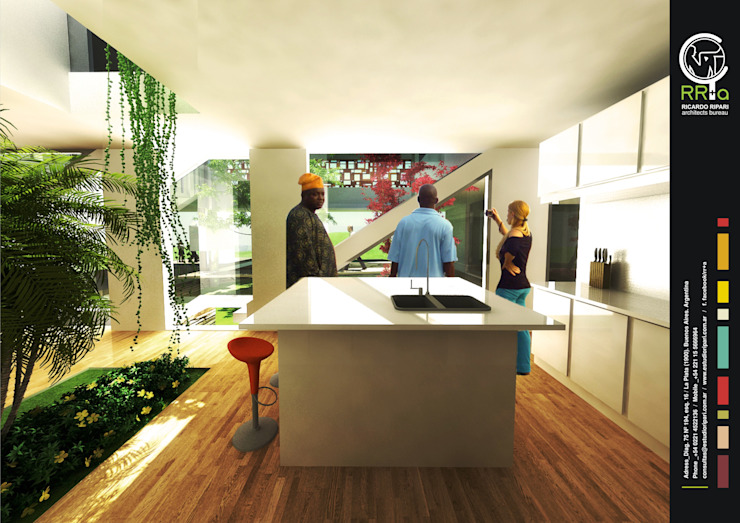 Cocina de Rr+a bureau de arquitectos - La Plata Moderno