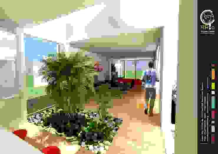 Hall de entrada: Pasillos y recibidores de estilo  por Rr+a  bureau de arquitectos - La Plata,Moderno
