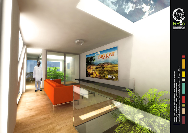 Salas de estar modernas por Rr+a bureau de arquitectos - La Plata Moderno
