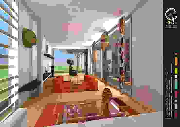 Living: Livings de estilo  por Rr+a  bureau de arquitectos - La Plata,Moderno
