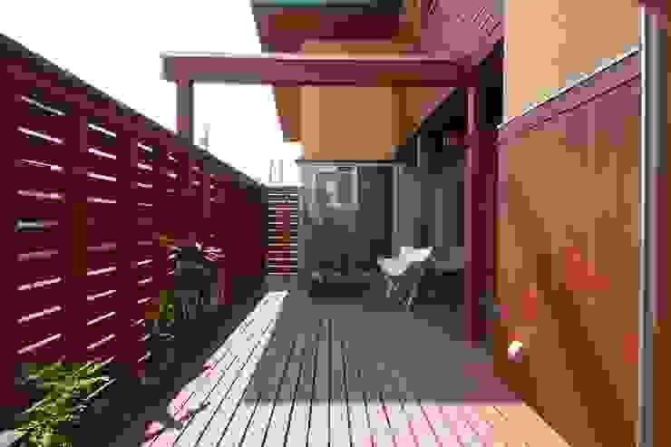 陽ごこちの家 群馬県 高崎市 オリジナルデザインの テラス の 田村建築設計工房 オリジナル