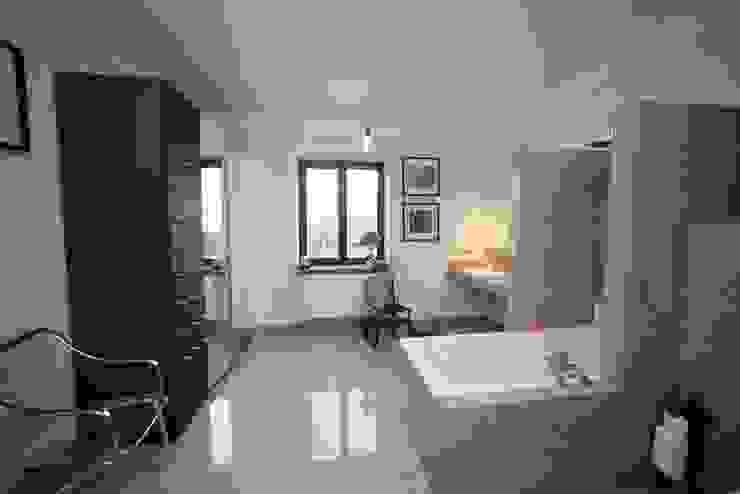 Przebudowa Domu Nowoczesna łazienka od pracownia architektoniczno-konserwatorska festgrupa Nowoczesny