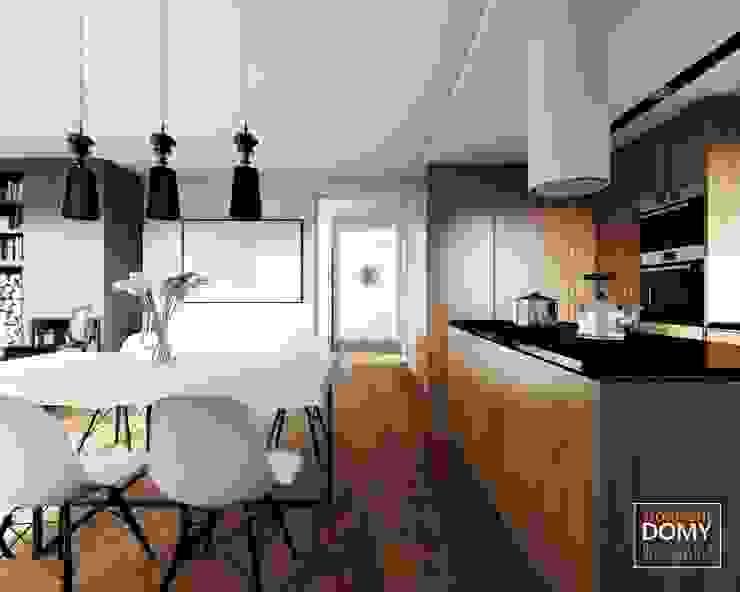 現代廚房設計點子、靈感&圖片 根據 Słoneczne Domy Pracownia Architektury 現代風